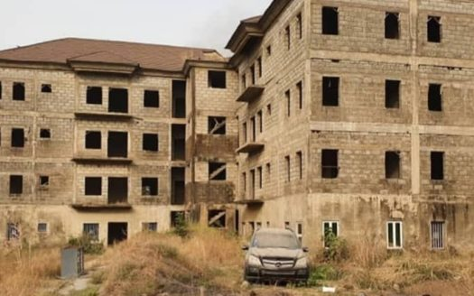 uncompleted block of flats abuja